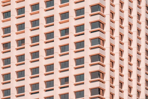 Pink Architectural Building Photography During Daytime