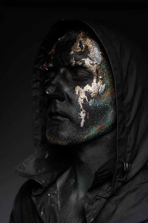 Black and Gold Face Paint
