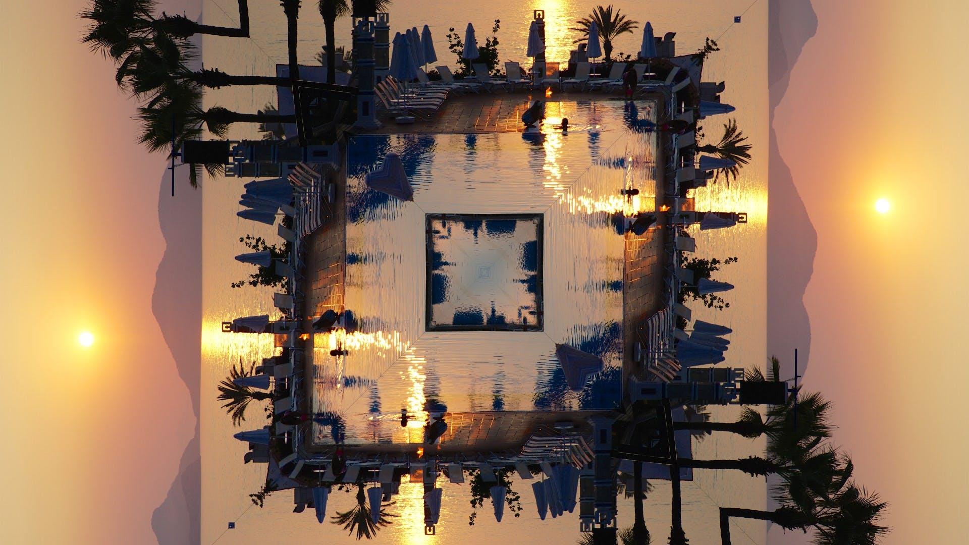 Free stock photo of #kaleidoscope art #unique design #sunset