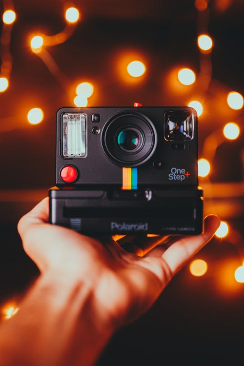 Photo Of Person Holding Polaroid