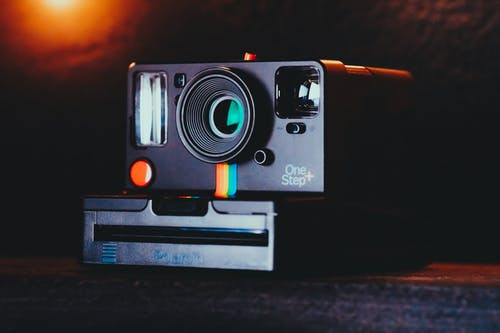 Close-Up Photo Of Black Polaroid Camera