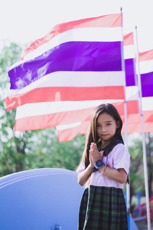 Girl Wearing Her School Uniform