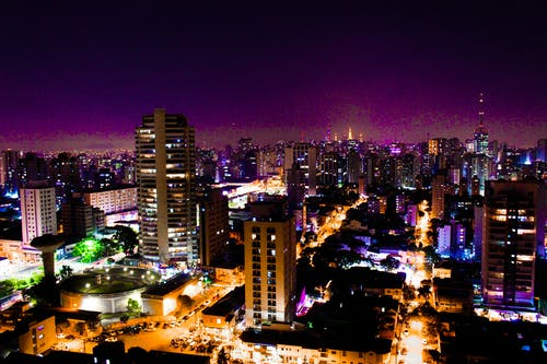 Free stock photo of city life, city night, night lights, purple