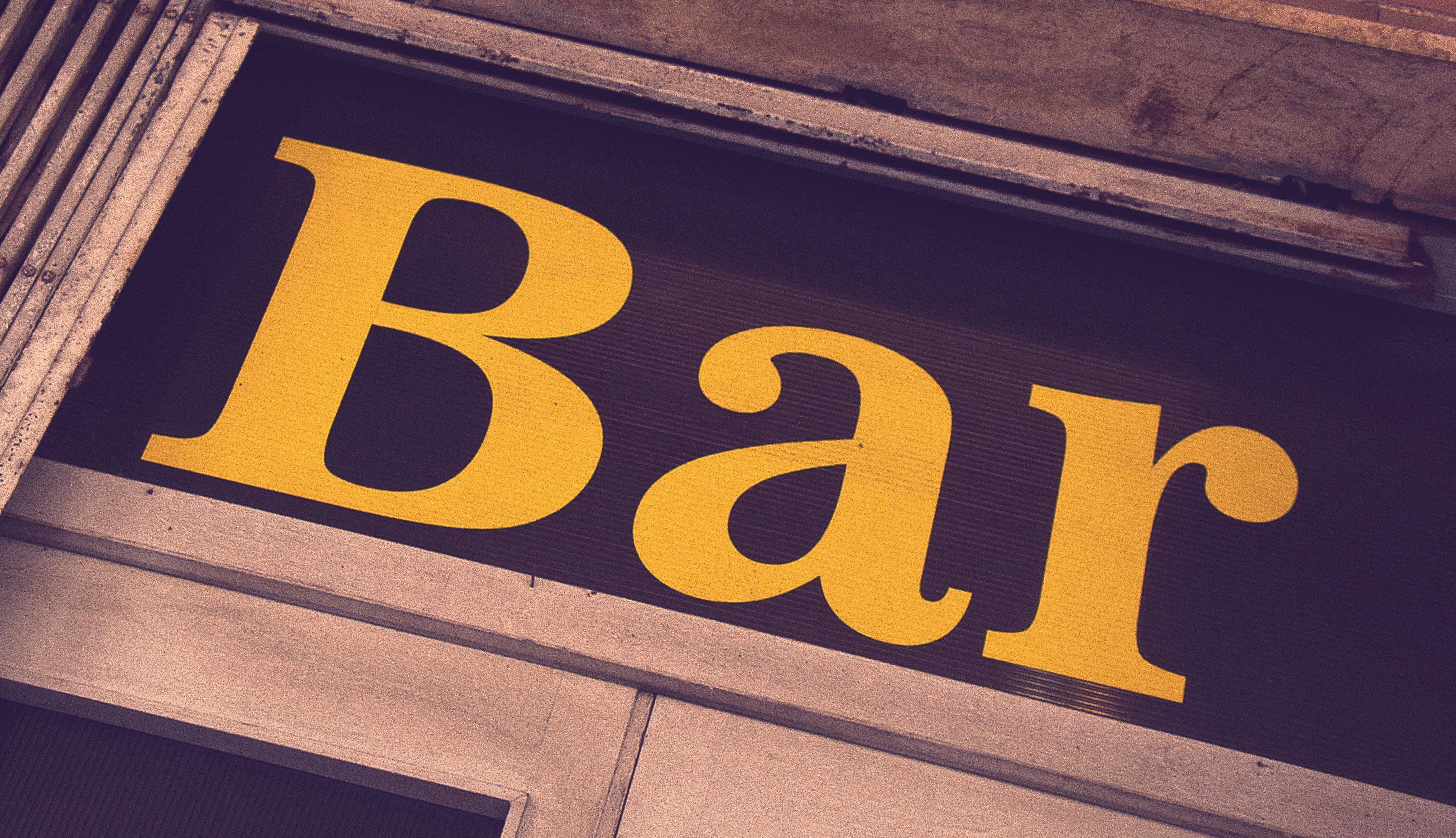Free stock photo of bar, yellow, vintage, café