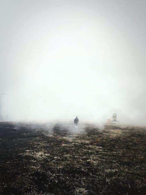 Foto stok gratis gelap, gunung, hari berkabut, kabut