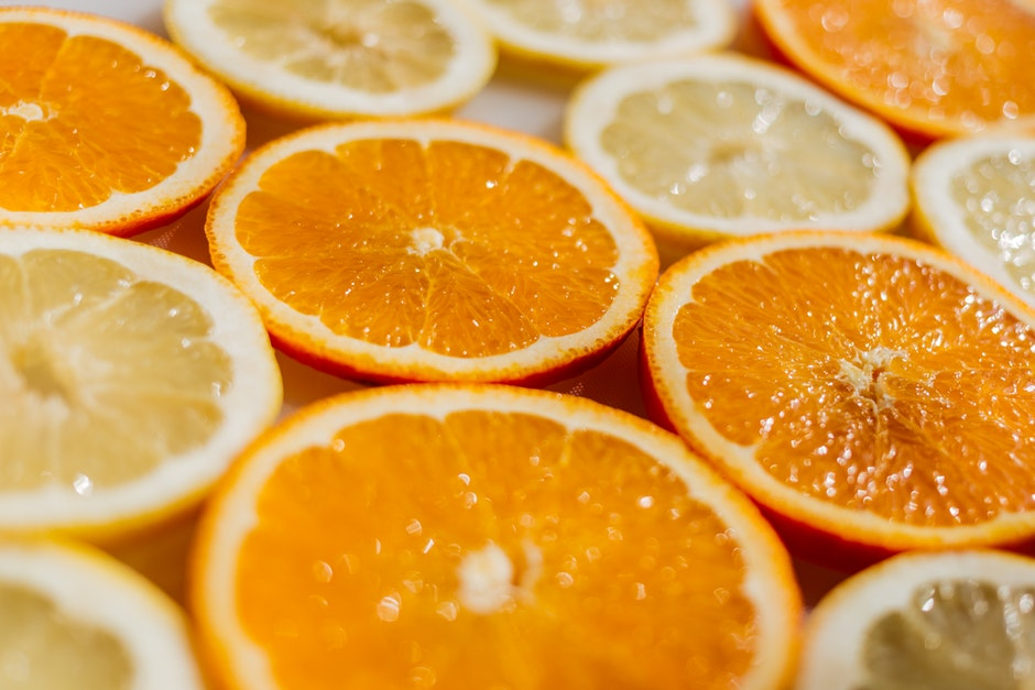 bright, citrus, close-up