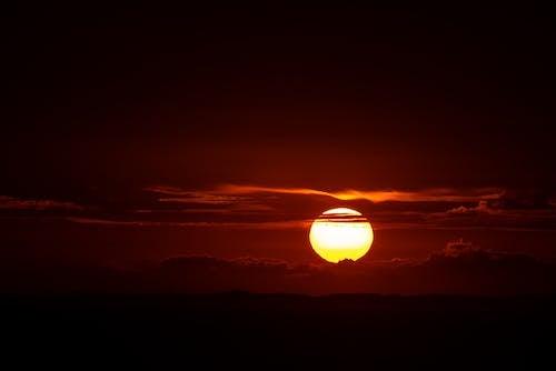 Photos gratuites de à contre-jour, art, aube, beau coucher de soleil