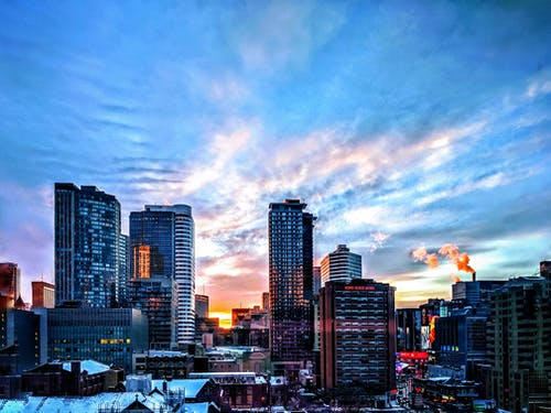 Free stock photo of blue sky, bond place hotel, city