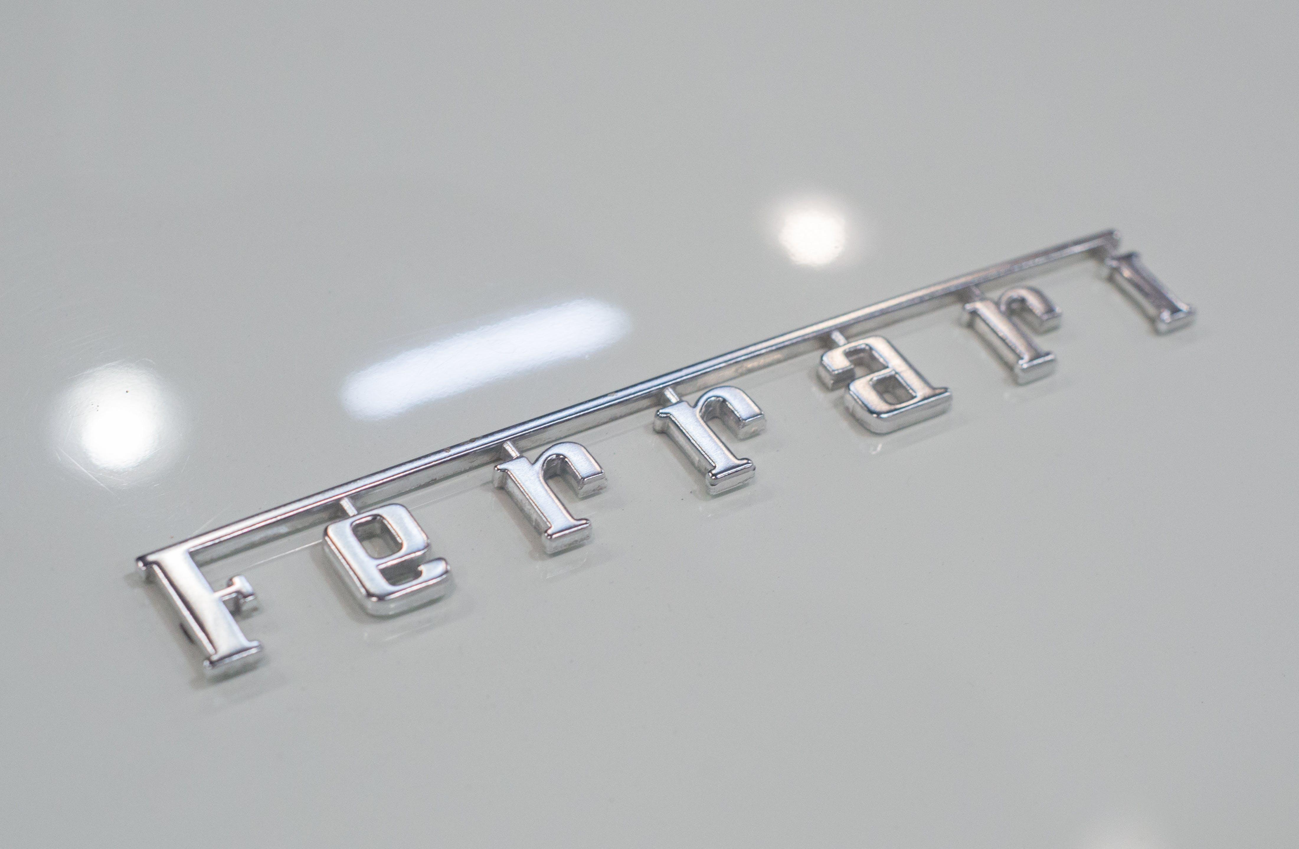 Silver Ferrari Emblem