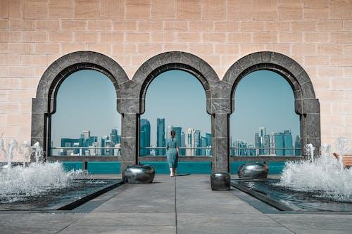 Kostenloses Stock Foto zu architektur, architekturdesign, bögen, doha