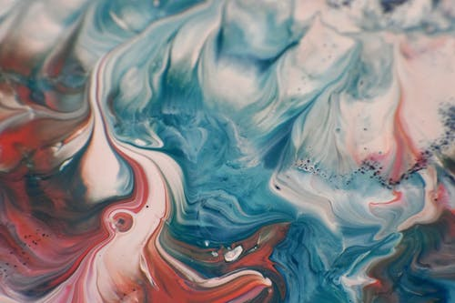 Close Up Photo of Water Marbling Paint