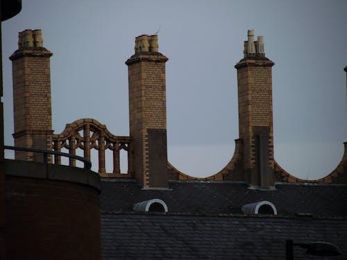 Free stock photo of brick, chimneys, city skyline