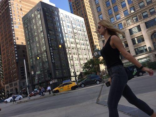 Free stock photo of #city, #Cityscape, #lady, #walk
