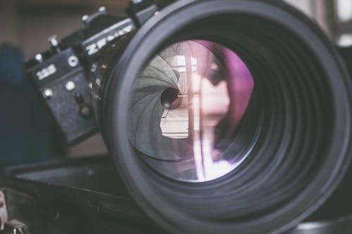 Fotos de stock gratuitas de abertura, antiguo, cámara, cenit