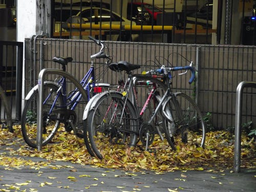 Free stock photo of autumn, bicycle parking, bicycles