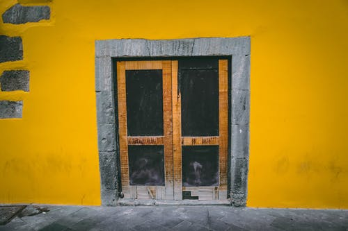 Free stock photo of architecture, background, bright wall, bright yellow