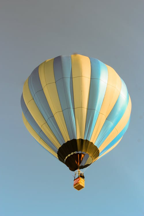 Blue and Yellow Hot Air Balloon