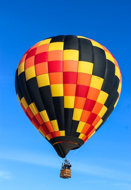 Colorful Hot Air Balloon Flying