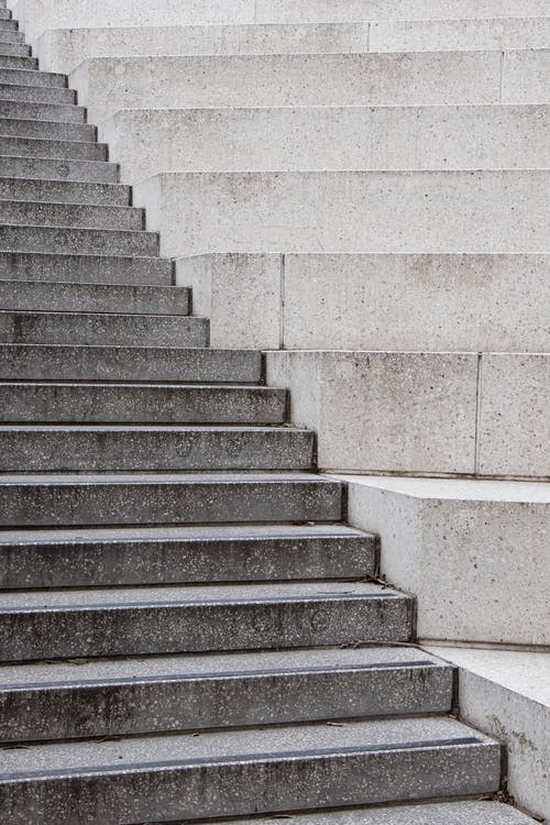 Gray And White Concrete Staircase