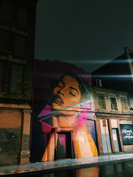 Free stock photo of art, billie holiday, mural