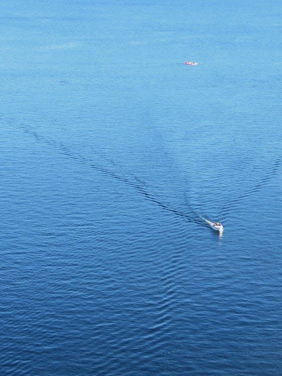 Free stock photo of blue, boat, lake