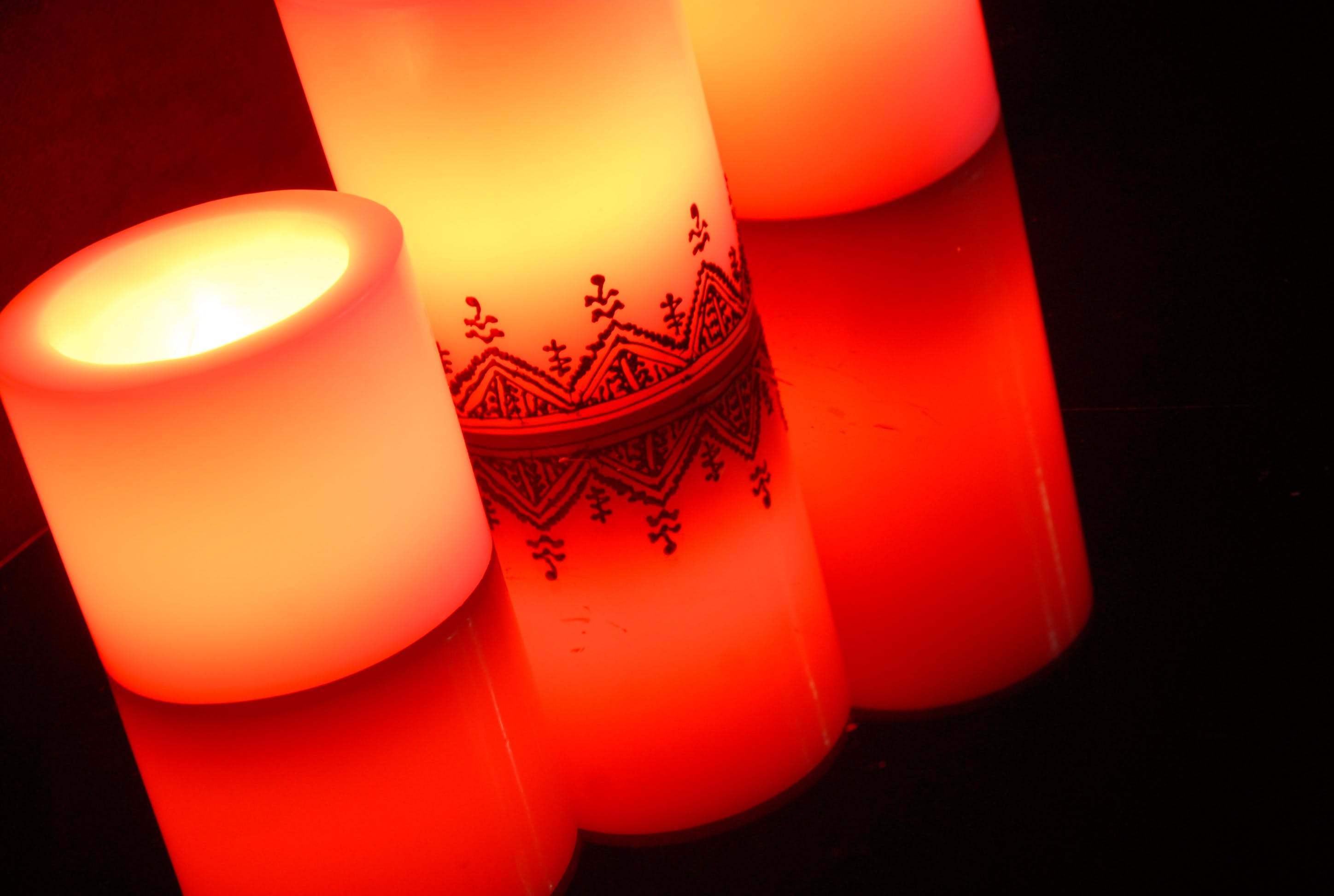 Three Pillar Candles