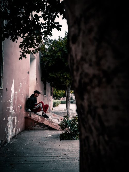 Kostnadsfri bild av betong trappor, betongbeläggning, gata