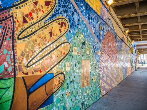 Free stock photo of art, bridge, chicago, mural