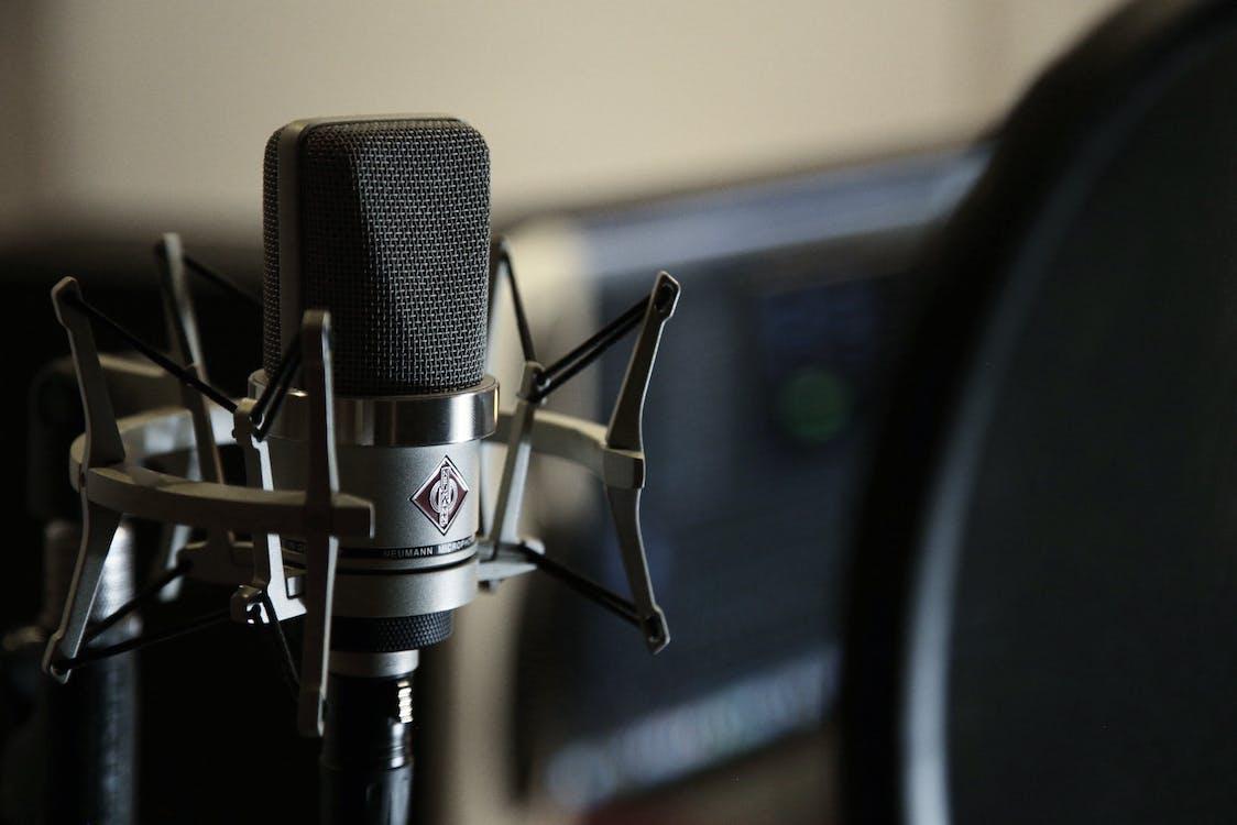 Nahaufnahmefoto Des Mikrofons
