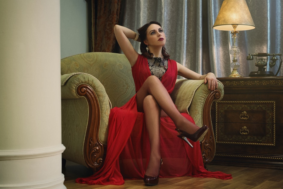 armchair, attractive, beautiful