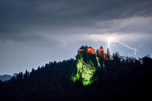 光, 剪影, 危險, 城堡 的 免費圖庫相片