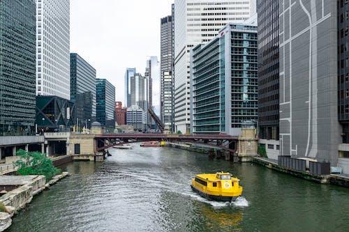 Immagine gratuita di acqua, america, architettura, barca