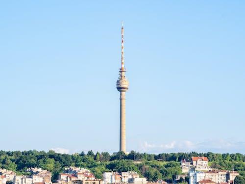 Gratis arkivbilde med antenne, arkitektur, betong, blå himmel
