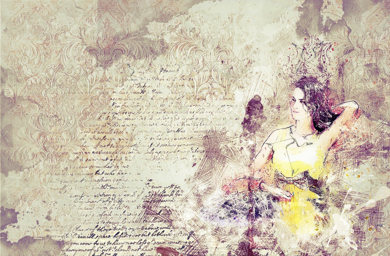 Free stock photo of woman, art, girl, yellow