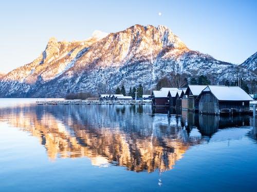 冬季, 冷, 反射, 埃本湖 的 免費圖庫相片