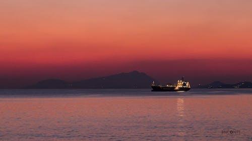 Free stock photo of beach sunset