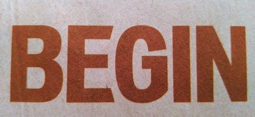 アルファベット, ベギン, ワード, 印刷済みの無料の写真素材