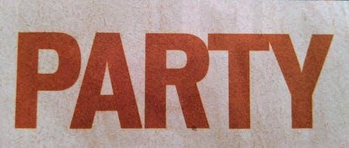 アルファベット, パーティー, ワード, 印刷済みの無料の写真素材