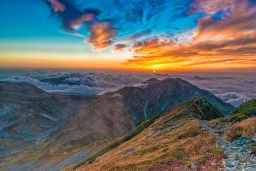 คลังภาพถ่ายฟรี ของ ตอนเย็น, ตะวันลับฟ้า, ท้องฟ้า, ธรรมชาติ
