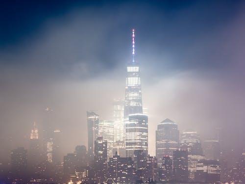 Ilmainen kuvapankkikuva tunnisteilla aamu, Amerikka, arkkitehtuuri, hämärä