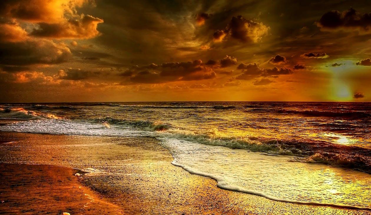 aften, aftenhimmel, atmosfære