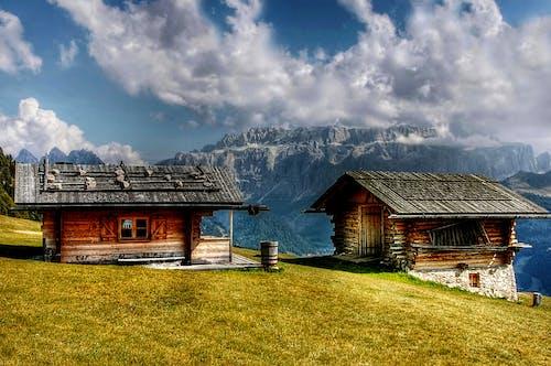 Základová fotografie zdarma na téma alpský, barevný, chata, chýše