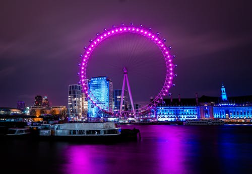 Gratis lagerfoto af city of london, lang eksponering, london eye, sonya6400