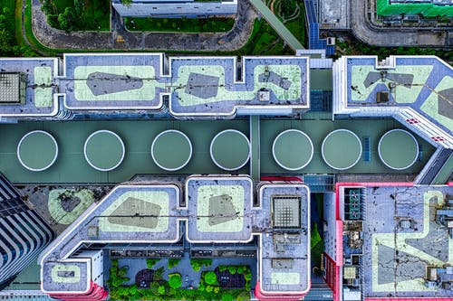 Top View of a Industrial Plant