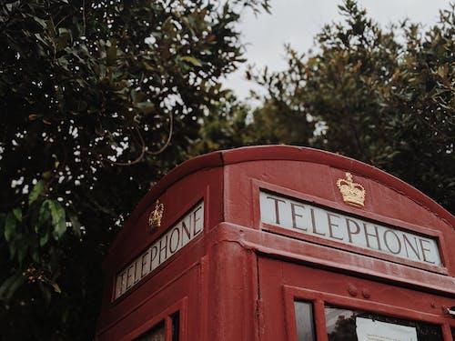 Photos gratuites de antiquité, arbres, britannique, cabine téléphonique