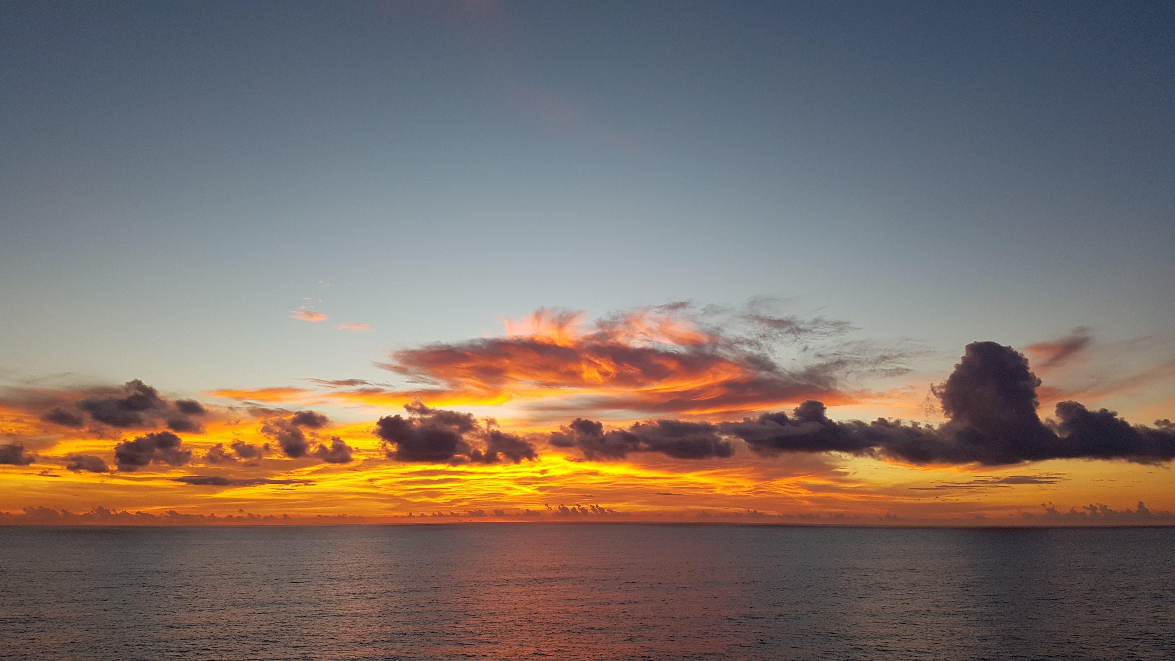 Landscape Photography of Sea Under Sunset