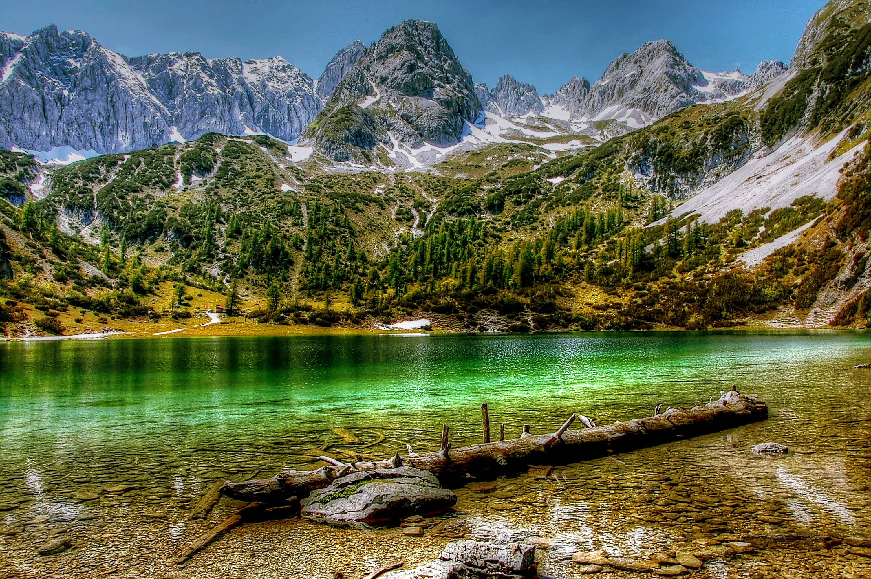 Body of Water and Mountains