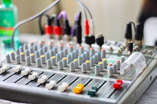 White and Gray Audio Mixer