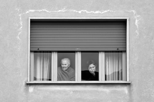 Free stock photo of grandma, look outside, old lady, window