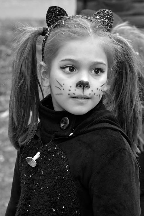 Free stock photo of black cat girl, carnival, child, costume